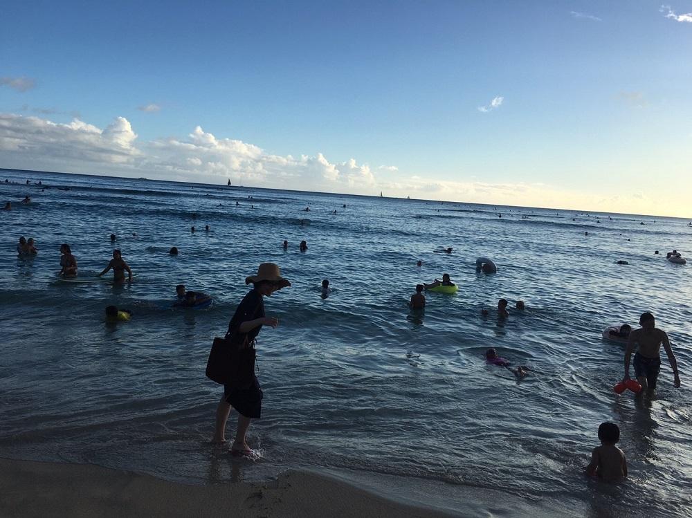 自己紹介,ハワイ,海