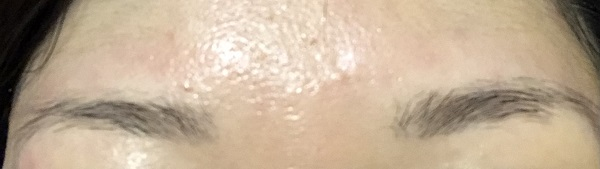 眉毛サロンで施術後の眉毛
